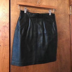 Leather mini skirt Norh Beach